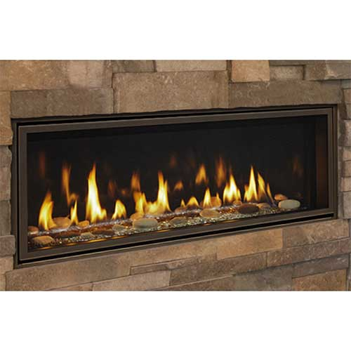 "36"" Echelon II IntelliFire Plus Direct Vent Linear Fireplace  (Electronic Ignition) - Majestic"