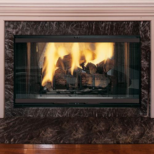 42 Designer Radiant See Thru Wood Burning Fireplace Refractory