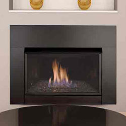 33 Solstice Contemporary Vent Free Fireplace Insert, Blower ...